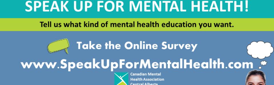 Speak Up for mental health Survey Header